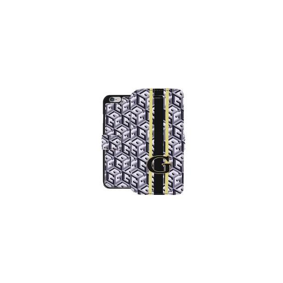 Book Case Guess G-Cube für iphone 6 und 6s Schwarz