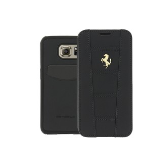 Ferrari Book Case für Samsung G920F Galaxy S6 Black-Gold