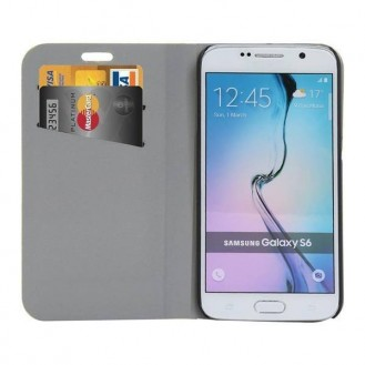 Bling Strass Hülle mit Kredit Karten Slots Galaxy S6 Silber