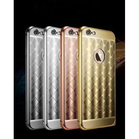 Grau LUXUS Aluminium Spiegel Bumper Case iphone 6+ / 6S+