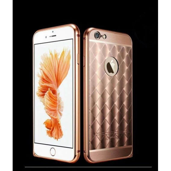 Rose Gold LUXUS Aluminium Spiegel Bumper Case iphone 6+ / 6S+