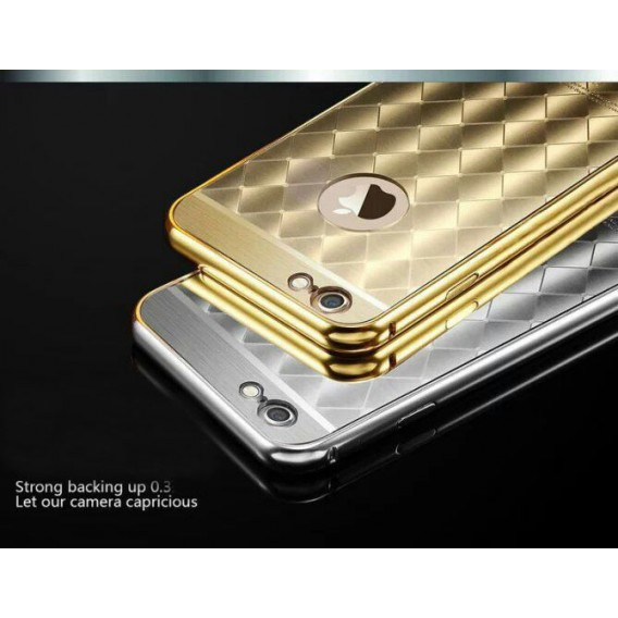 Silber LUXUS Aluminium Spiegel Bumper Case iphone 6+ / 6S+