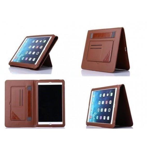 iPad 2 3 4 Leder Schutz Hülle Etui Braun