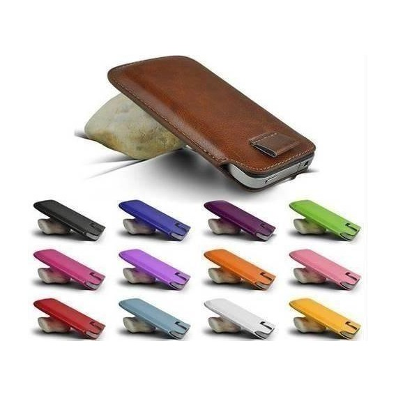 Slim Pull Tab Leder Etui iPhone 4 4S