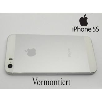 iPhone 5S SE Umbauset Backcover Middle Frame Akkudeckel Silber (Vormontiert !)