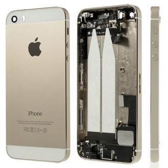 More about iPhone 5S SE Backcover Middle Frame Akkudeckel Gold (Vormontiert !)