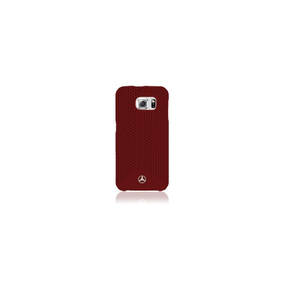 Faceplate Mercedes Pure Line Samsung Galaxy S6 Perforated Red
