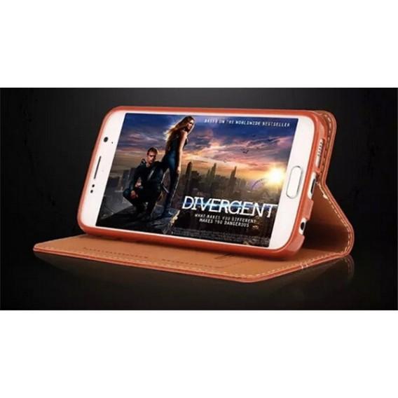 Pink Edel Leder Book Tasche Kreditkarten fach Galaxy S6 Edge