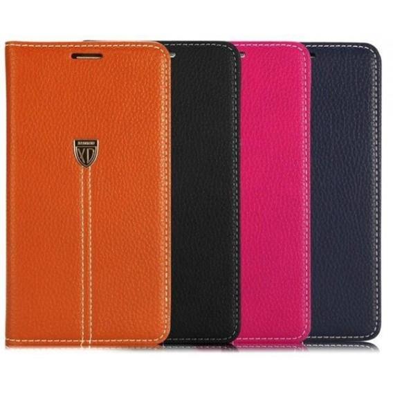 Pink Edel Leder Book Tasche Kreditkarten fach Galaxy Note 4