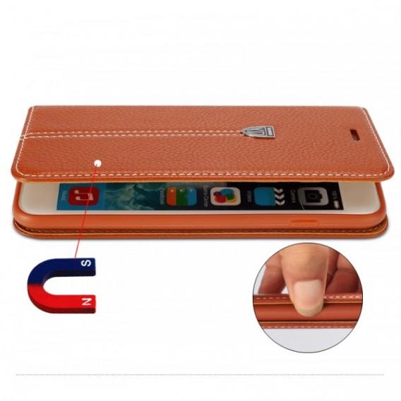 """Schwarz Edel Leder Book Tasche Kreditkartefach iPhone 6 6S 4.7"""""""
