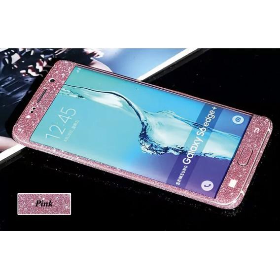 Samsung s6 Edge Pink Bling Aufkleber Folie Sticker Skin