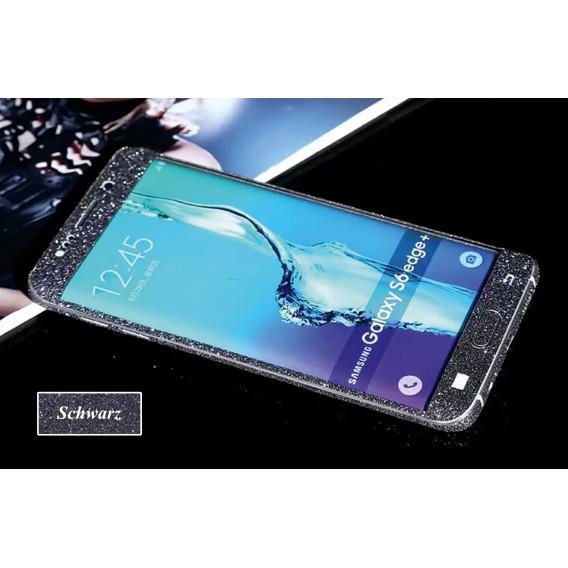 Samsung s6 Edge Plus Schwarz Bling Aufkleber Folie Sticker Skin