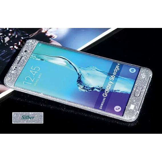 Samsung s6 Edge Plus Silber Bling Aufkleber Folie Sticker Skin