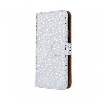 Weiss Edel  Flip Case Tasche Kreditkartefach iPhone 6+ 6S+