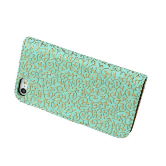 Grün Edel Flip Case Kreditkartefach iPhone 6+ 6S+