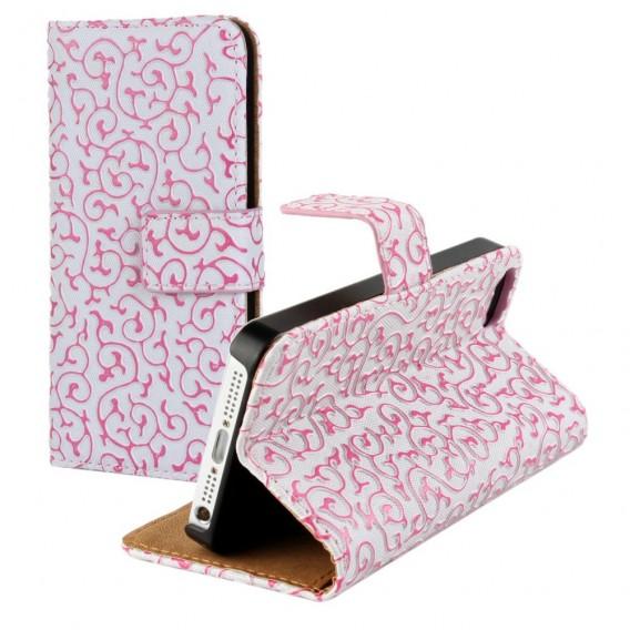 Pink Edel Flip Case Tasche Kreditkartefach iPhone 6 und 6s