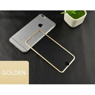 Gold Panzer Schutzfolie mit erweitertem Alu-Rand iPhone 6 / 6s