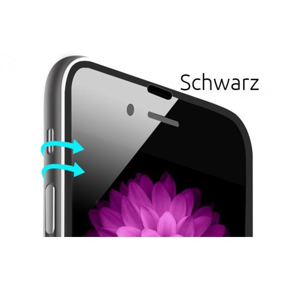 Schwarz Panzer Schutzfolie mit Alu-Rand iPhone 6+ 6s+