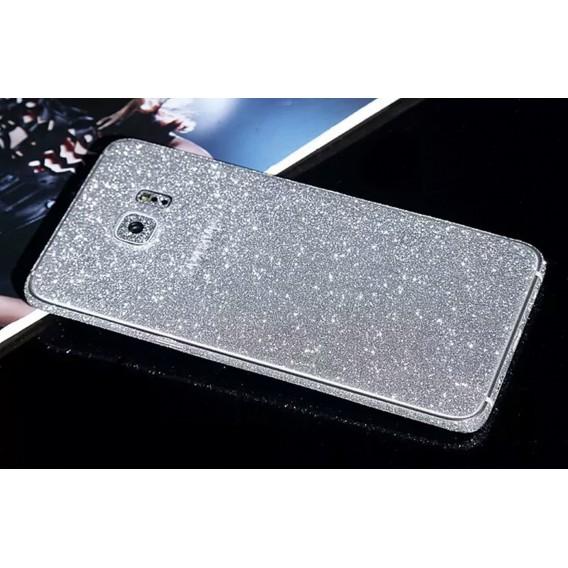 Samsung s6 Edge Silber Bling Aufkleber Folie Sticker Skin