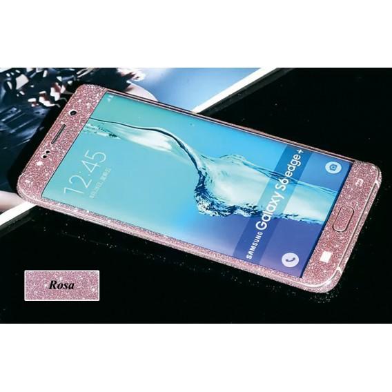 Samsung s6 Edge Rosa Bling Aufkleber Folie Sticker Skin