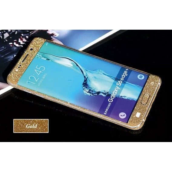 Samsung s6 Edge Gold Bling Aufkleber Folie Sticker Skin