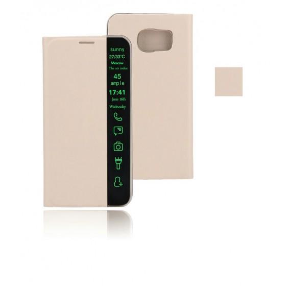 Gold Flip Tasche mit Nachrichten Fenster Galaxy S6