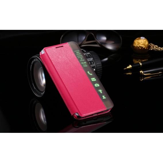 Pink Flip Tasche mit Nachrichten Fenster Galaxy S6