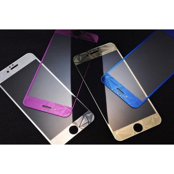 Blau Luxus 3D Panzer Glas Folie iPhone 6 Plus/6s Plus
