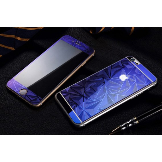 Blau Luxus 3D Panzer Glas Folie iPhone 6 Plus/6s Plus