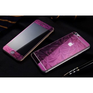 Lila Luxus 3D Panzer Glas Folie iPhone 6 Plus/6s Plus
