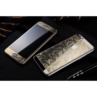 Gold Luxus 3D Panzer Glas Folie iPhone 6/6s
