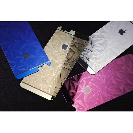 Silber Luxus 3D Panzer Glas Folie iPhone 6/6s