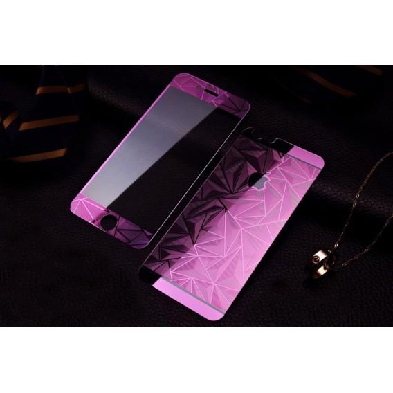 Lila Luxus 3D Panzer Folie Sticker iPhone 6/6s
