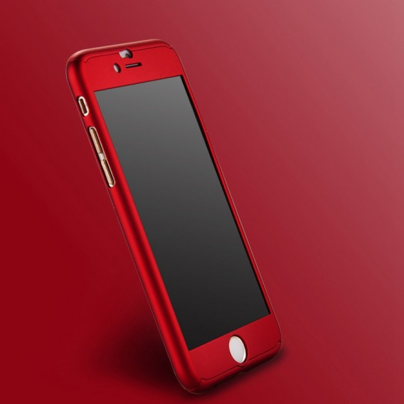 Rot iPhone 360° Full Cover iphone 6 6S mit Panzerglas