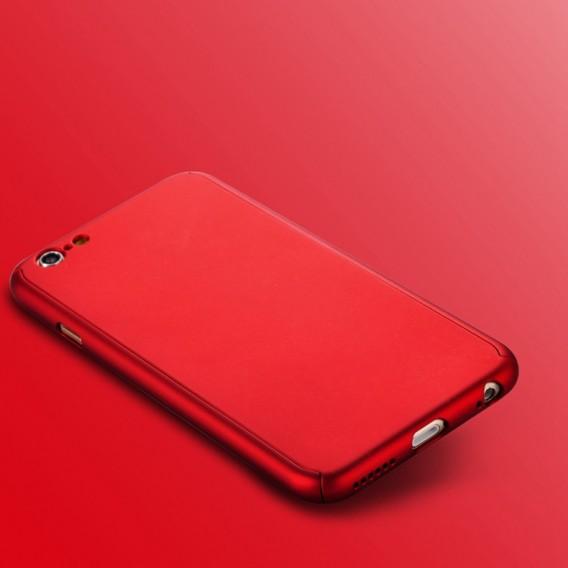 Rot iPhone 360° Full Cover iphone 6 Plus 6S Plus Panzerglas
