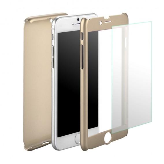 Gold iPhone 360° Full Cover iphone 6 Plus 6S Plus Panzerglas