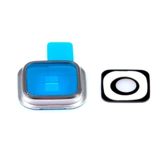 Silber Kamera Linse Glas Lens Rahmen Galaxy S5 G900F