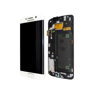 Original LCD Display Samsung G925F Galaxy S6 Edge Weiss