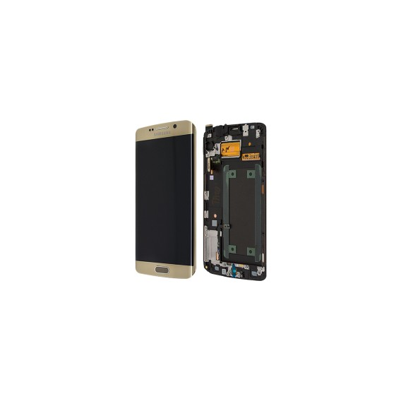 Original LCD Display Samsung G925F Galaxy S6 Edge Weiss