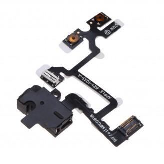 Flex Kabel Kopfhörer Buchse Headphone mit Audio Jack iPhone 4 Schwarz
