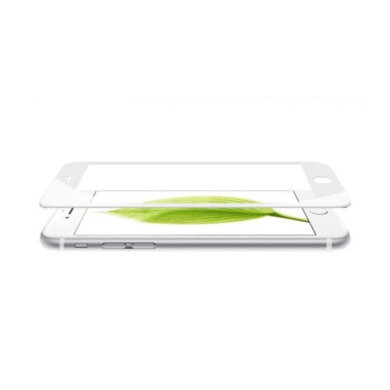 3D Full 9H Panzerglas Tempered Folie iPhone 6 6S weiss