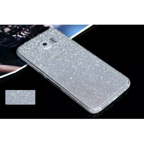 Samsung s6 Silber Bling Aufkleber Folie Sticker Skin