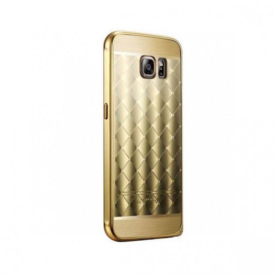 Galaxy S6 Gold LUXUS Aluminium Spiegel Bumper
