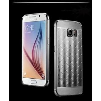 Galaxy S6 Grau LUXUS Aluminium Spiegel Bumper