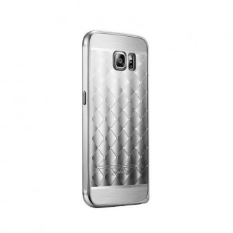 Galaxy S6 Grau Gold LUXUS Aluminium Spiegel Bumper