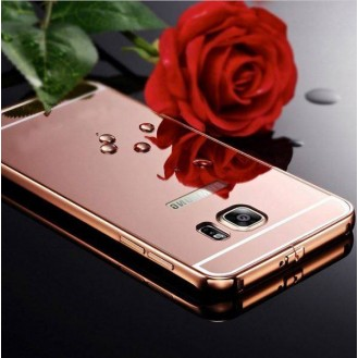 More about Galaxy S6 Rose Gold LUXUS Aluminium Spiegel Bumper