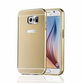 Galaxy S6 Rose Gold LUXUS Aluminium Spiegel Bumper