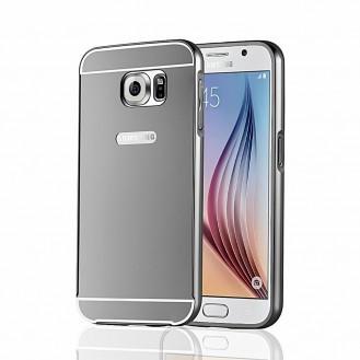 Galaxy S6 Schwarz LUXUS Aluminium Spiegel Bumper
