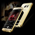 Galaxy S6 Edge Gold LUXUS Aluminium Spiegel Bumper