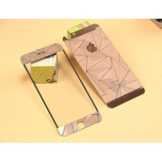 Rosa Luxus 3D Panzer Glas Folie iPhone 6/6s